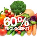 60% ekologiskt och KRAV-märkt